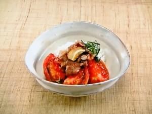 トマト牛丼