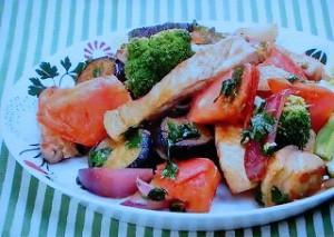 豚ロース肉と野菜のトマト炒め