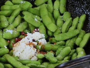 枝豆の中国風スパイス炒め