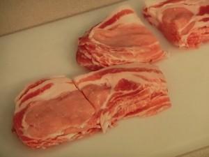 豚塩焼き&きゅうりのナムル