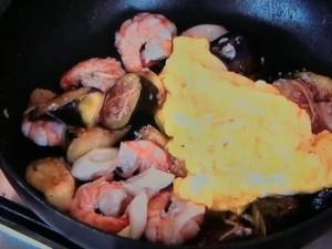 エビとナスのふわふわ卵炒め