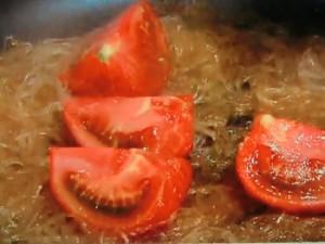 トマトと春雨炒め