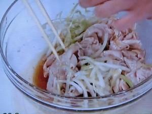 豚肉とたっぷりネギのあえ麺