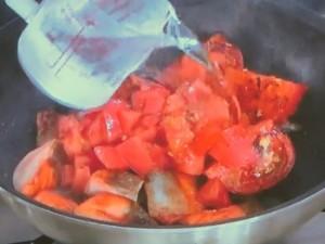 トマトとサケの冷汁