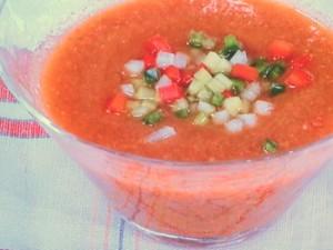 赤いスープ(ガスパチョ)