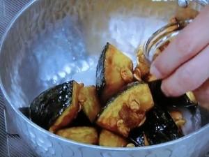 揚げかぼちゃの砂糖醤油