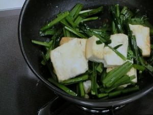にら玉豆腐