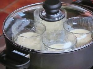 冷やし豆乳茶碗蒸し えび枝豆あん