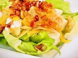 ガ-リックベーコンドレッシングの豆腐サラダ