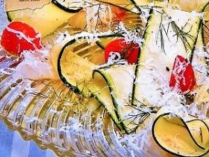 鯛とズッキーニのカルパッチョ