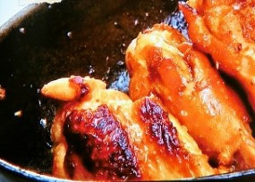 手羽元のフライパンBBQ焼き