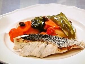 白身魚のグリルラタトゥイユソース