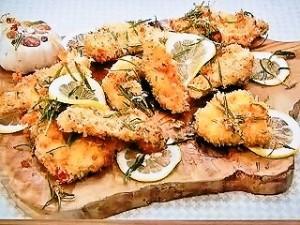 鶏むね肉のペコリーノチーズフライ