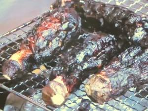 焼きなすの香味肉だれ