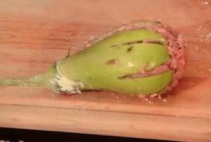 もこみち流 翡翠なすの肉詰めフライ