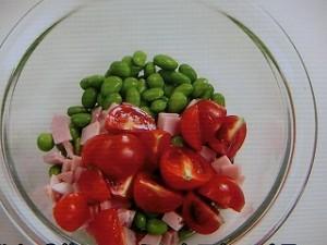 枝豆のサラダ