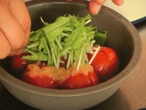トマトの玉ねぎすりおろしサラダ
