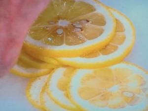揚げなすのレモン風味