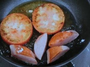 トマトの油焼き醤油あんかけ
