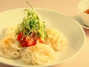 中華風トマトの冷麦