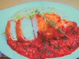 もこみち流 鶏むね肉のカツ ~トマトソースがけ~
