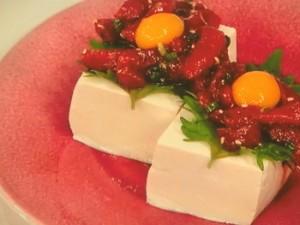 マグロユッケ豆腐