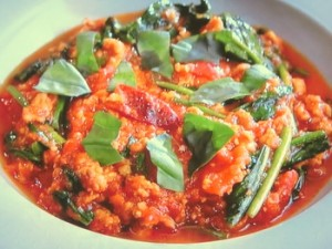 鶏のトマトカレー煮