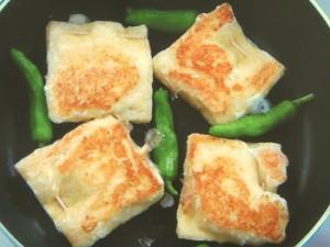 油揚げの卵詰め焼き