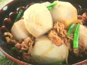 里芋と牛肉の煮物