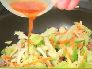 シャキシャキ野菜炒め