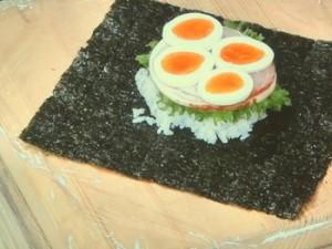 「おにぎらず」ハムと卵のおにぎりサンド