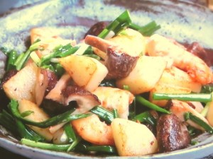えびとポテトのマヨネーズ炒め