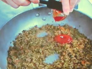 野菜たっぷり!ミートソース丼