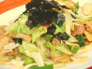 カレーみそ味の野菜炒め