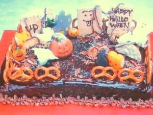 もこみち流 かぼちゃのパウンドケーキ〜チョコグラサージュかけ