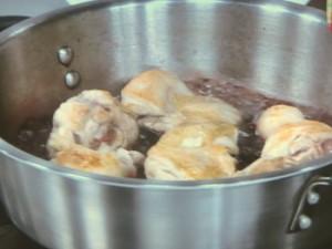 鶏の赤ワイン煮