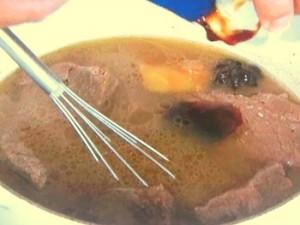 牛肉とオイスター煮込みあんかけチャーハン