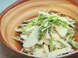 もこみち流 梅マヨドレッシング 大根と白菜のサラダ