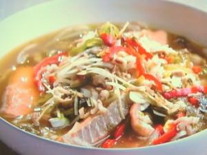 サケと高菜の煮込み