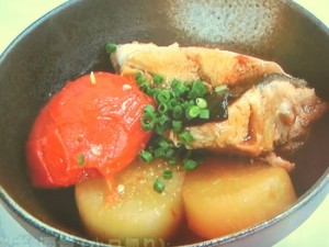 ブリ大根のトマト煮