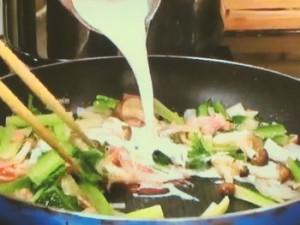 小松菜のクリームスパゲティ