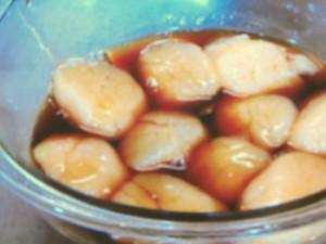 焼き帆立ての土鍋炊きご飯
