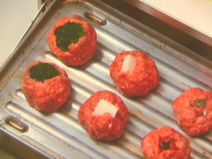 野菜入りミートボール