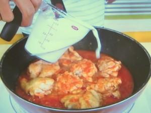 チキンのトマトクリーム煮