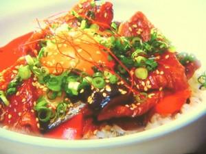 特製タレのピリ辛カルビ丼