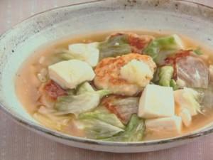 鶏団子と豆腐のあんかけ