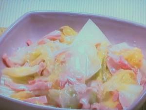 ロースハムと白菜の葛煮