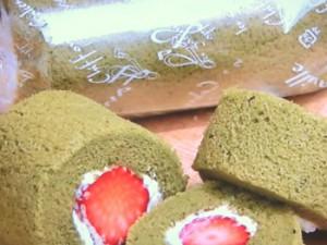 抹茶シフォンロールケーキ