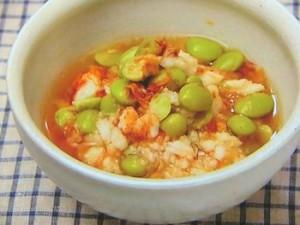 枝豆とたたき長芋のおひたし