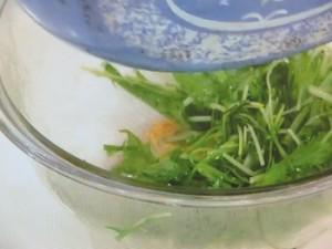水菜と卵焼きのナムル